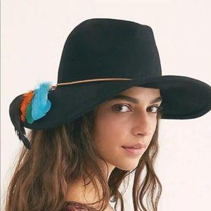 NEW Free People Marlow Fedora Ranger Hat Black